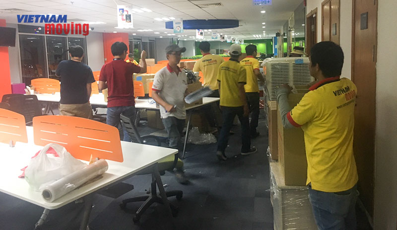 Dự án chuyển văn phòng công ty Lazada Việt Nam 9