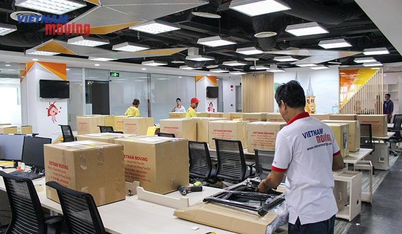 Dự án chuyển văn phòng công ty shopee Việt Nam 11