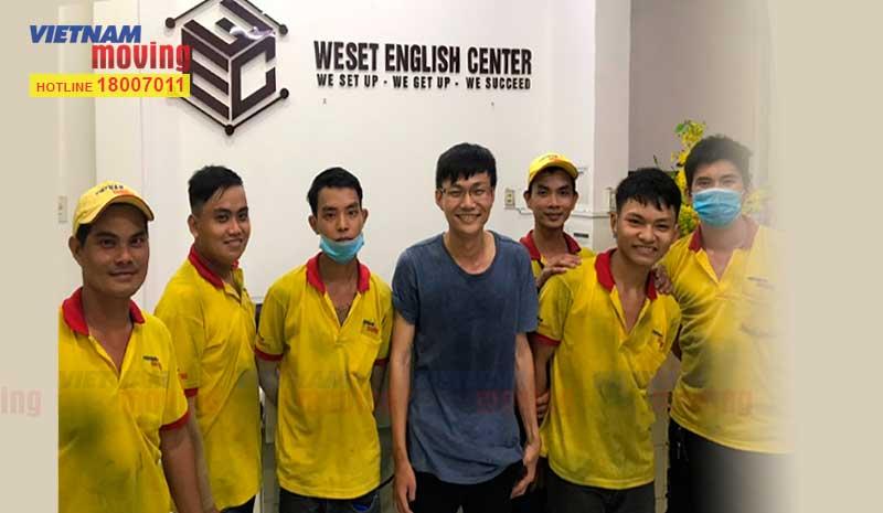 Dự án vận chuyển trung tâm Anh ngữ WESET English Center