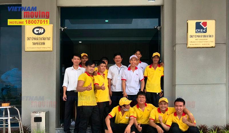 Dự án chuyển văn phòng công ty CP ĐT Hạ Tầng Kỹ Thuật TPHCM (CII)