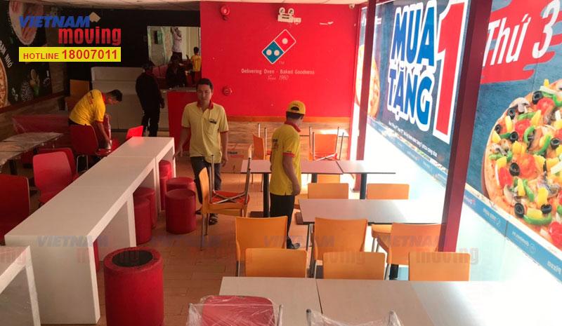 Dự án vận chuyển cửa hàng Domino's Pizza 2
