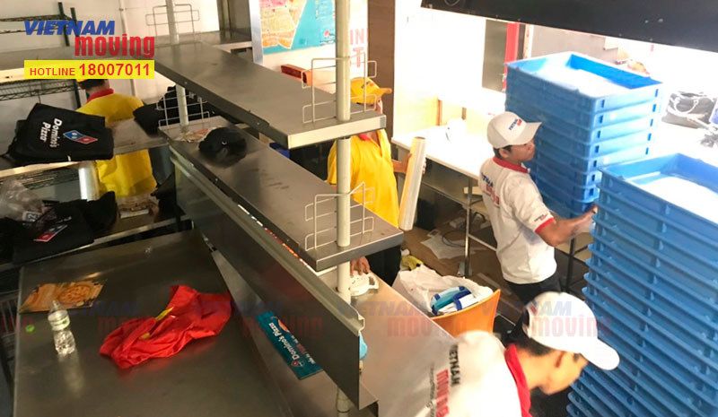 Dự án vận chuyển cửa hàng Domino's Pizza 5