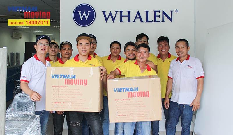 Dự án chuyển văn phòng công ty Whalen Furniture Việt Nam